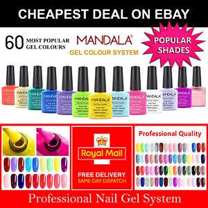 Premium Nail Gel Polish UV LED Set MND Popular Colours Varnish Glitter Top Full