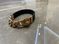 Versace Leather/Gold Bracelet