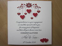 Personalised Handmade Hearts With Verse Engagement Card