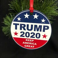 Trump 2020 FLAT TWO SIDED CHRISTMAS ORNAMENT Maga 2020 Kag