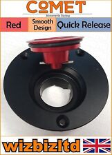 Comet Black and Red Quick Release Fuel Cap Yamaha TZR250 1987-1989 FC537QRD