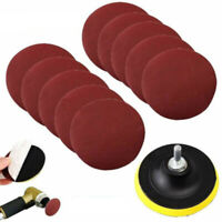 10Pcs 4/100mm Sanding Disc Sandpaper Hook & Loop 1000 Grit With Backer Pad