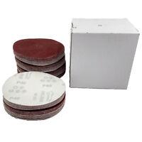 6 Inch DA Hook and Loop Sandpaper Sanding Discs 40-2000 Grit Pack of 100