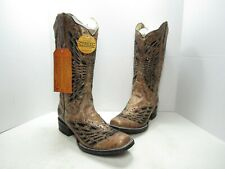 Corral Sequin & Crystal Butterfly Western Boots, Women's Size:8 Medium (B712)