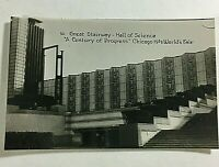 "VINTAGE 1933 Chicago Mini Photographs 3X2"" World Fair Souvenir Great Stairway"