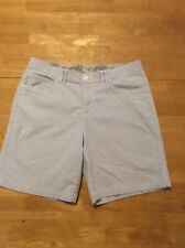 Riders by LEE Blue White Stripe SHORTS Stretch 8.5 inch inseam size 12