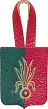 3° R.E.I au MAROC, vers 1925 1930, insigne de poitrine en cuir, 39 X 30 mm(3959)