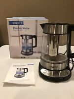 Homever Cordless Electric Glass Kettle 1.7L