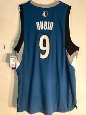 Adidas Swingman NBA Jersey Minnesota Timberwolves Ricky Rubio Blue sz XL