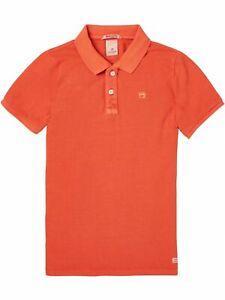 Scotch & Soda 147968, Polo für Jungen, orange, Gr. 10/140