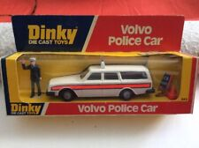 DINKY TOYS MECCANO VOLVO POLICE CAR #243 FIGURE SIGNS DOG PICTURE BOX ENGLAND