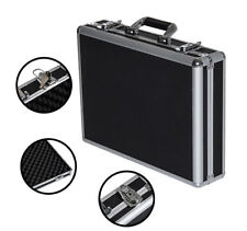 "18"" Gun Case Pistol Handgun Shotgun Hard Carry Box Aluminum Framed Lock Storage"