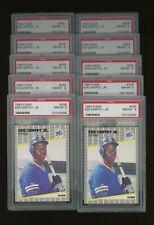 Investor Lot of (10) 1989 Fleer #548 ken Griffey Jr. RC Rookie Mariners PSA 8