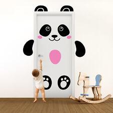01404 Wall Stickers Adesivi Murali Porta bambini decoro Panda 80x210 cm