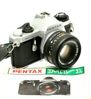 Pentax MV1 Film Camera & 50mm F2 Prime Lens - Working - New Batteries