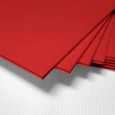 "(2 pcs-Vertical) 4mm Red 12"" x 18"" Corrugated Plastic Coroplast Sheets Sign*"