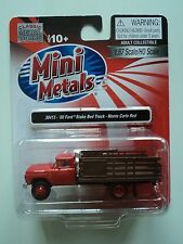 CLASSIC METAL WORKS  1960 FORD STAKE BED TRUCK  RED CAB   1/87 HO PLASTIC