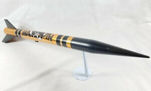 Vintage Estes Mammoth, Scale Model Rocket Black and Gold Rocket - Estes Rocket