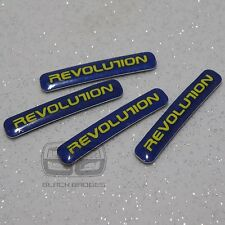 Roue En Alliage Jante Lip Edge Badges Set Badge Révolution Roues Bleu Stickers 34 mm