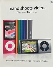 New listing Apple ipod Nano shoots video in-store promo poster