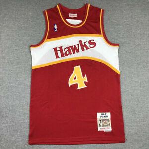 NWT Spud Webb Atlanta Hawks Throwback Swingman Jersey Red Size S-XXL