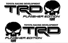 (2) TRD PUNISHER EDITION Decals Toyota Tacoma Tundra Truck Vinyl Stickers