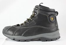 Timberland Black Leather Hiking Boots Kids Boys Size 3M