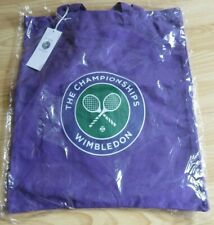 WIMBLEDON TENNIS THE CHAMPIONSHIPS CANVAS PURPLE TOTE BAG BRAND NEW