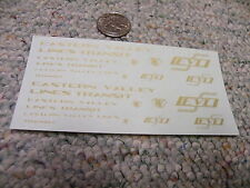 Herald King decals HO Eastern Valley Lines Transit gold   ZZ24