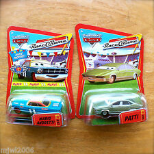 Disney PIXAR Cars MARIO ANDRETTI CHASE & PATTI RACE O RAMA diecast lot NASCAR