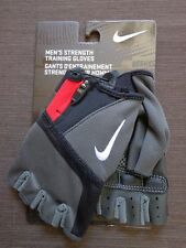 Nike Men's Strength Training Gloves Black/Grey/Red Size XS - New