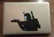 Boba Fett Attack Vinyl Sticker Decal Macbook Pro Star Wars window laptop USA gun