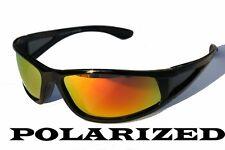 Premium black polarized sunglasses fire mirror Golf-ing Fish Shade pc7331pol/RV