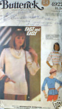 Vintage Butterick Pattern Shirt Knit Top 14 SEWING Easy