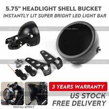"5-3/4 5.75""inch Motorcycle LED Headlight Mount Housing Bucket Black for Bike"