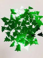 Christmas Tree Shape Table confetti metallic green LARGE SPRINKLES