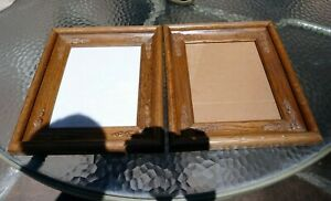 """8X10"""" Picture Frame Photo vintage antique solid wood set of two"""