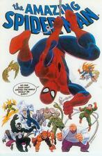MARVEL COMICS POSTCARD: SPIDERMAN with nemico (John Romita) (USA, 1991)