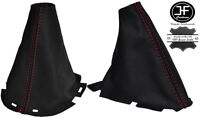RED STITCHING REAL LEATHER GEAR & HANDBRAKE BOOT FITS NAVARA D40 2006- 2012