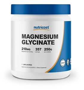Nutricost Magnesium Glycinate Powder (250 Grams) (Unflavored)