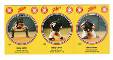 1982 ZELLERS MONTREAL EXPOS BASEBALL PRO TIPS PANEL OF 3 CARDS - GARY CARTER