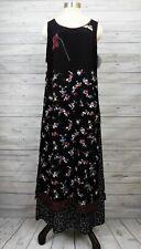 NWT Vintage Carol Anderson Sample Dress Layered Apron Rayon Georgette Floral M