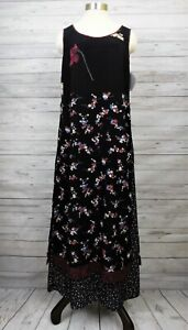 NWT Vintage Carol Anderson Sample Dress Layered Apron Rayon Georgette Floral M