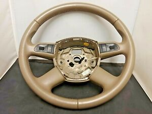 05-11 OEM AUDI A6 S6 /QUATTRO BEIGE/TAN LEATHER STEERING WHEEL W/ CONTROLS C6