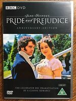 Pride and Prejudice DVD 1995 BBC Jane Austen Drama Classic w/ Colin Firth 2-Disc
