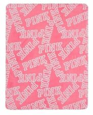 Victoria'S Secret Pink Holiday Blanket All Over Logo Throw 50 X 60 Limited Ed