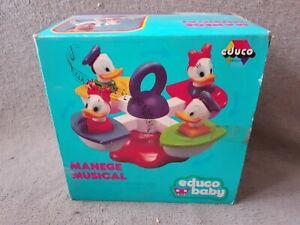 Manège Musical Educo Baby Walt Disney Productions Donald Daisy C-6 Vintage