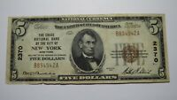 $5 1929 New York City New York NY National Currency Bank Note Bill #2370 RARE!