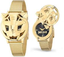 Orologio Just Cavalli Tiger R7251561501 gold donna fondo nero acciaio moda