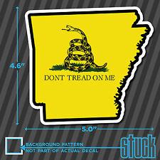 "Arkansas State Don't Tread On Me - 5.0""x4.6"" - printed vinyl decal sticker AR"